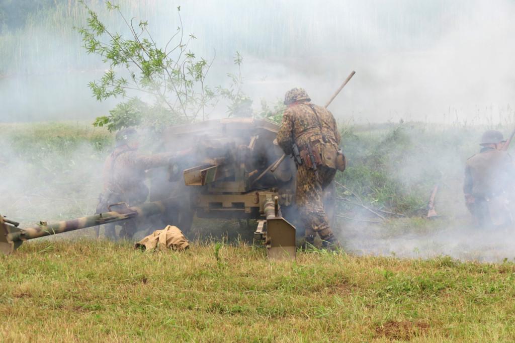 Dělostřelci v boji